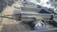 "6 X 4 Trailer 750KG, Deep 18"" sides, checker plate floor fixed front"