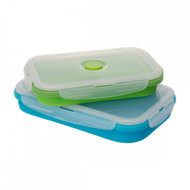COLLAPSIBLE SET OF 2 RECTANGLE CONTAINERS