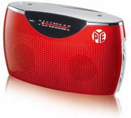 PYE Portable AC/DC Radio (Red)