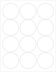 "2.5"" Circle Recycled PCW Labels"