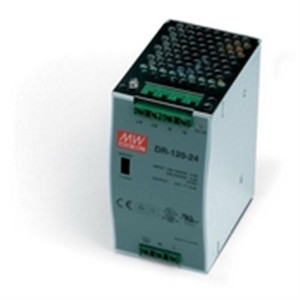 """Power Supply, 120 Watts, 5 Amps, 24 VDC output, 88-132 VAC input, DIN Rail mounted"" (AE-DR-120-24)"