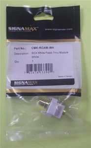 RCA White Feed-Thru Module (sign_CMK-RCAW-WH)