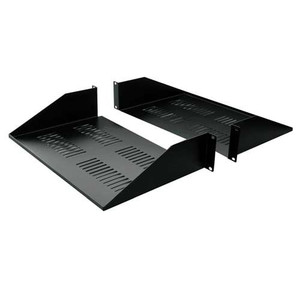 "19"" DOUBLE-SIDED VENTED DIVIDED SHELF 2 RMS 25"" DEPTH.  BLACK"