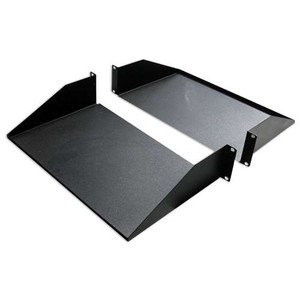 "19"" DOUBLE-SIDED NON-VENTED DIVIDED SHELF 2 RMS 25"" DEPTH.  BLACK"