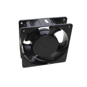"4"" SQUARE FAN. 60 CFM. BLACK"
