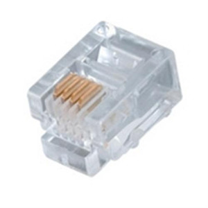 Modular Plug; RJ11; 6P4C; FLAT; STRANDED; 15U GOLD (questt_NMP-4111)