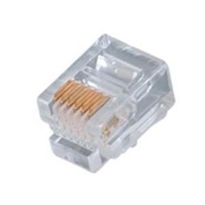 Modular Plug; RJ12; 6P6C; FLAT; STRANDED; 15U GOLD (questt_NMP-6111)