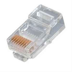 Modular Plug; RJ45; 8P8C; FLAT; STRANDED; 15U GOLD (questt_NMP-8111)