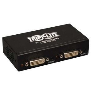 """2-Port DVI Splitter with Audio and Signal Booster, Single-Link 1920x1200 at 60Hz/1080p (DVI F/2xF)"" (tripp_B116-002A)"