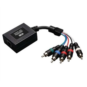 """Component Video with Stereo Audio over Cat5/Cat6 Extender, In-Line Remote Receiver"" (tripp_B136-100)"