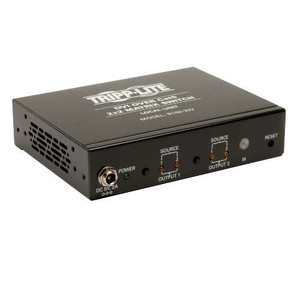 """2x2 DVI over Cat5/Cat6 Matrix Splitter Switch, Video Transmitter"" (tripp_B140-202)"