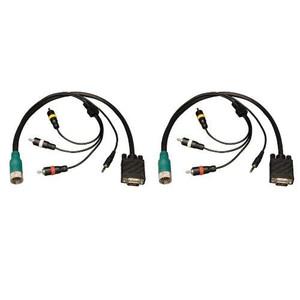 """""""Easy Pull Type-A Connectors - M/M set of VGA, 3.5mm, RCA Audio, Composite Video"""" (tripp_EZA-VGACSAM-2)"""