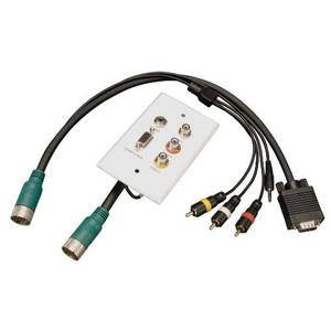 """Easy Pull Type-A Connectors - M/F set of VGA, 3.5mm, RCA Audio, Composite Video"" (tripp_EZA-VGACSAX-2)"