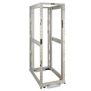 """42U SmartRack 4-Post White Premium Open Frame Rack - no sides, doors or roof"" (tripp_SR42UWEXPNDNR3)"