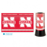 Nebraska Cornhuskers Rotating Team Lamp