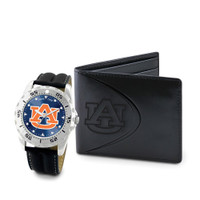 *Auburn Tigers NCAA Mens Leather Watch and Wallet Gift Set