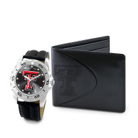 Texas Tech Red Raiders NCAA Mens Leather Watch and Wallet Gift Set