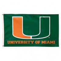 Miami Hurricanes NCAA 3x5 Team Flag