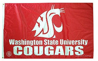 Washington State Cougars NCAA 3x5 Team Flag