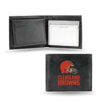 Cleveland Browns Embroidered Billfold Leather Wallet