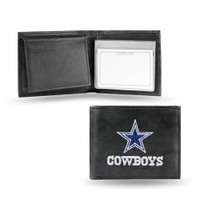 Dallas Cowboys Embroidered Billfold Leather Wallet