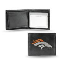 Denver Broncos Embroidered Billfold Leather Wallet