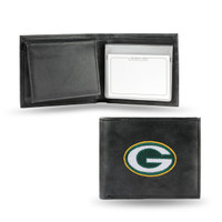 Green Bay Packers Embroidered Billfold Leather Wallet