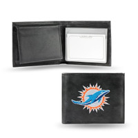 Miami Dolphins Embroidered Billfold Leather Wallet