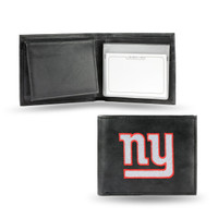 New York Giants Embroidered Billfold Leather Wallet