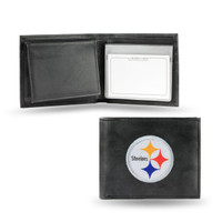 Pittsburgh Steelers Embroidered Billfold Leather Wallet
