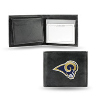 Los Angeles Rams Embroidered Billfold Leather Wallet