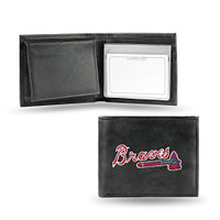Atlanta Braves Embroidered Billfold Leather Wallet