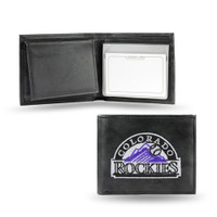 Colorado Rockies Embroidered Billfold Leather Wallet