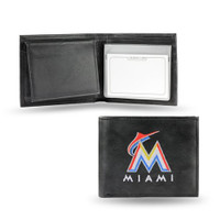 Miami Marlins Embroidered Billfold Leather Wallet