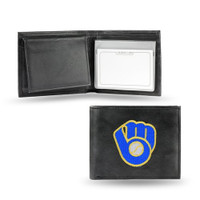Milwaukee Brewers Embroidered Billfold Leather Wallet
