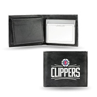 Los Angeles Clippers Embroidered Billfold Leather Wallet