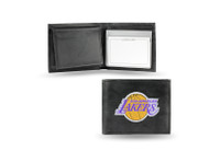 Los Angeles Lakers Embroidered Billfold Leather Wallet