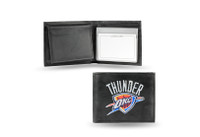 Oklahoma City Thunder Embroidered Billfold Leather Wallet
