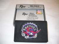 Toronto Raptors Embroidered Billfold Leather Wallet