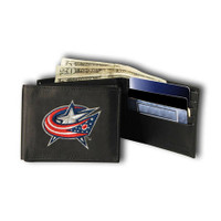 Columbus Blue Jackets Embroidered Billfold Leather Wallet