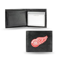 Detroit Red Wings Embroidered Billfold Leather Wallet