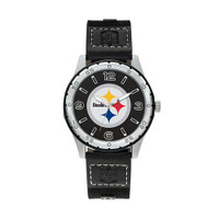 Pittsburgh Steelers Team Leather Watch by Sparo