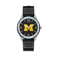Michigan Wolverines Team Leather Watch by Sparo