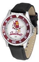 Arizona State Sun Devils Competitor Leather Watch White Dial