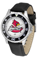 Louisville Cardinals Competitor Leather Watch White Dial