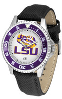 LSU Tigers Competitor Leather Watch White Dial