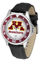 Minnesota Golden Gophers Competitor Leather Watch White Dial