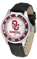 Oklahoma Sooners Competitor Leather Watch White Dial