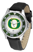 Oregon Ducks Competitor Leather Watch White Dial