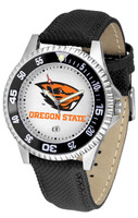Oregon State Beavers Competitor Leather Watch White Dial
